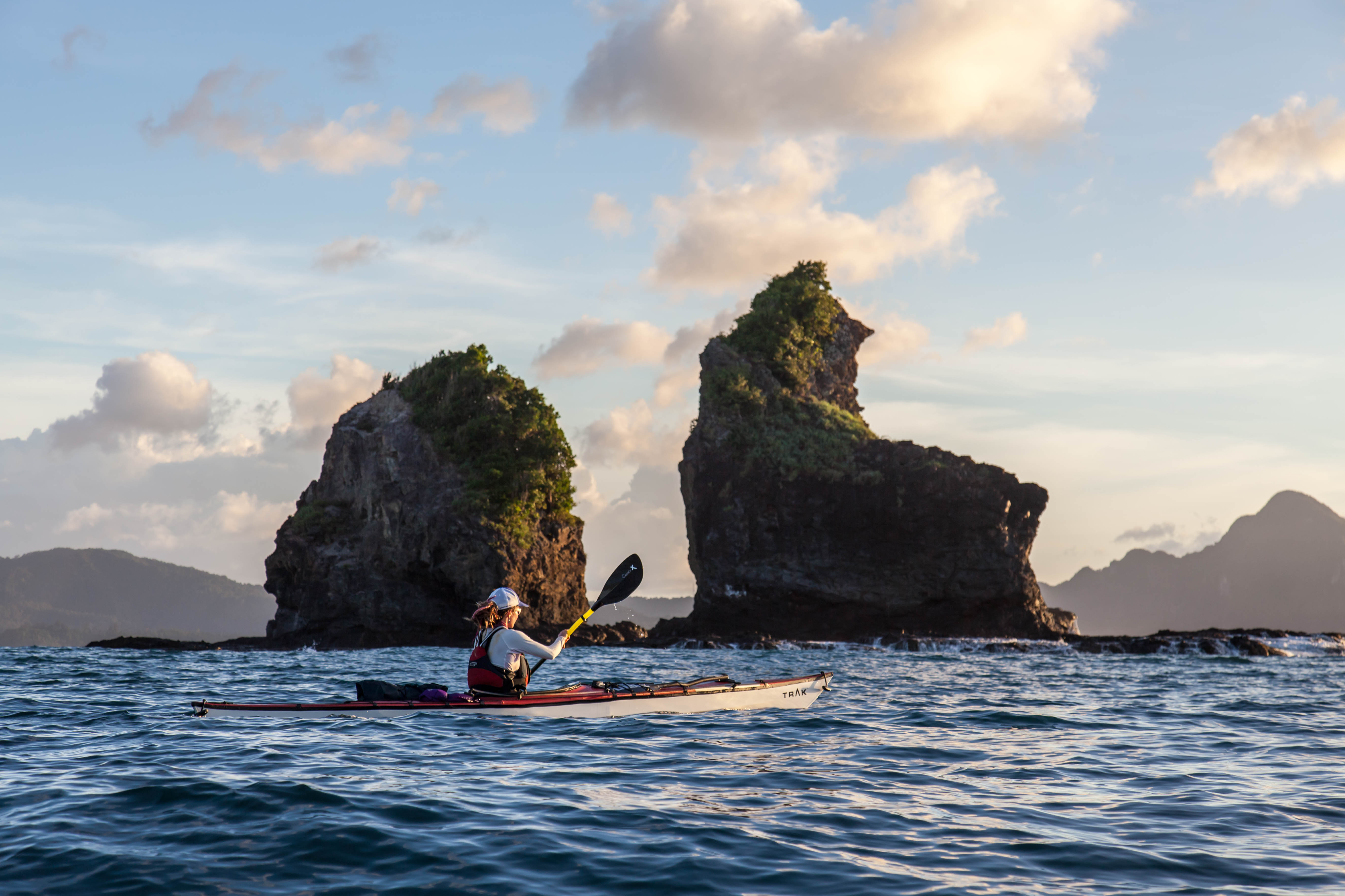 Ambassador Allie Carroll using the Cadence X paddle during a kayaking expedition